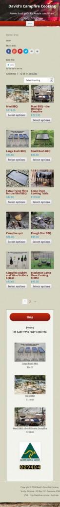 Campfire barbecues, bush grills