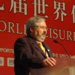 Garry Henshall speaking at the Hong Kong World Leisure Congress