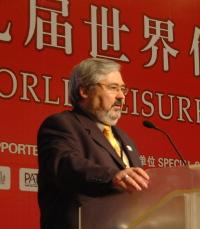 Garry Henshall speaking at the Hong Kong World Leisure Congress